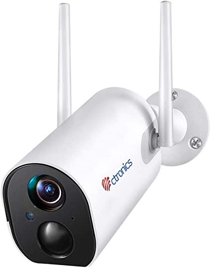 1080P Telecamera Wifi Esterno con 10400mAh Batteria Ricaricabile