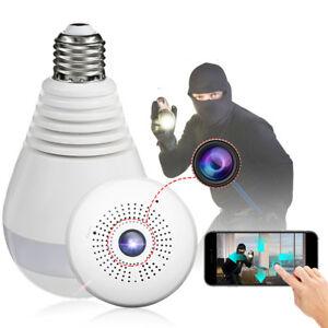 360° Spia Telecamera Nascosta Wireless Micro Camera Spy Lampadina
