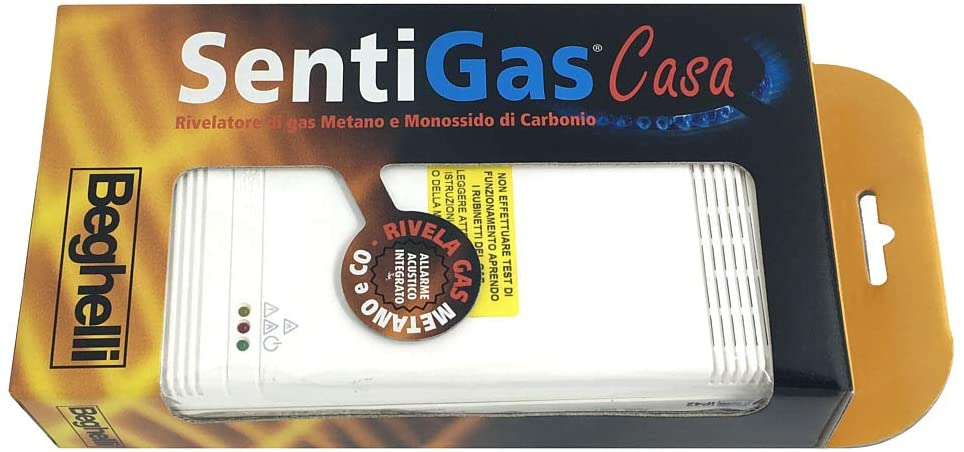 Beghelli Sentigas Casa, Rivelatore di Gas Metano e Monossido di