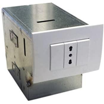 Cassaforte invisibile ad incasso, zincata, 1 cassetto e 1 vanno