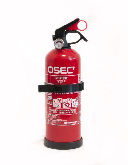 Cod. Art. 01112 - Estintore a polvere 1 Kg - classe di fuoco: 8A