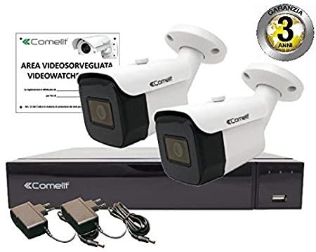 COMELIT Kit Ahd Ahdvr004s02a 2 Telecamere Ahd Bullet Xvr 4