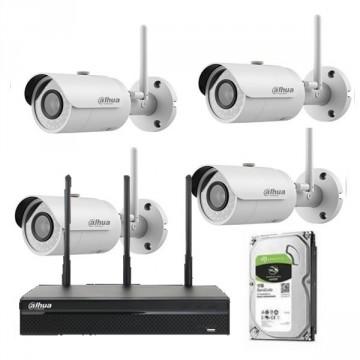 Dahua kit videosorveglianza con 4 telecamere 3MP IR IP wifi, NVR
