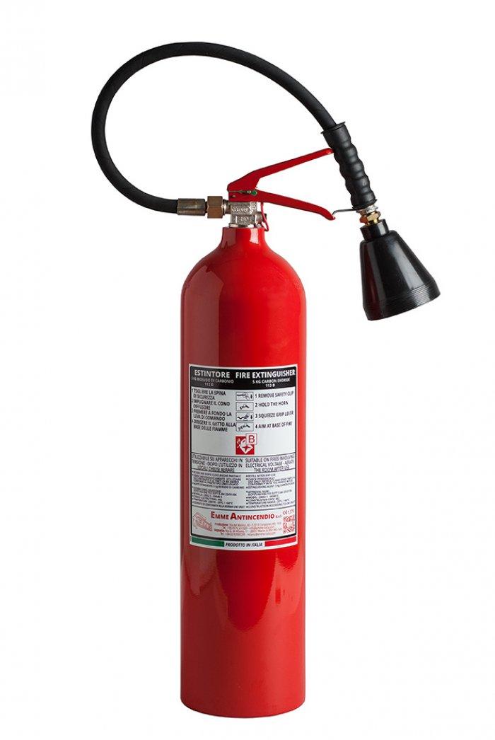 Estintore Co2 5 kg - 113B - 23052-1 - Emme 5 - EN 3/7- Serbatoio
