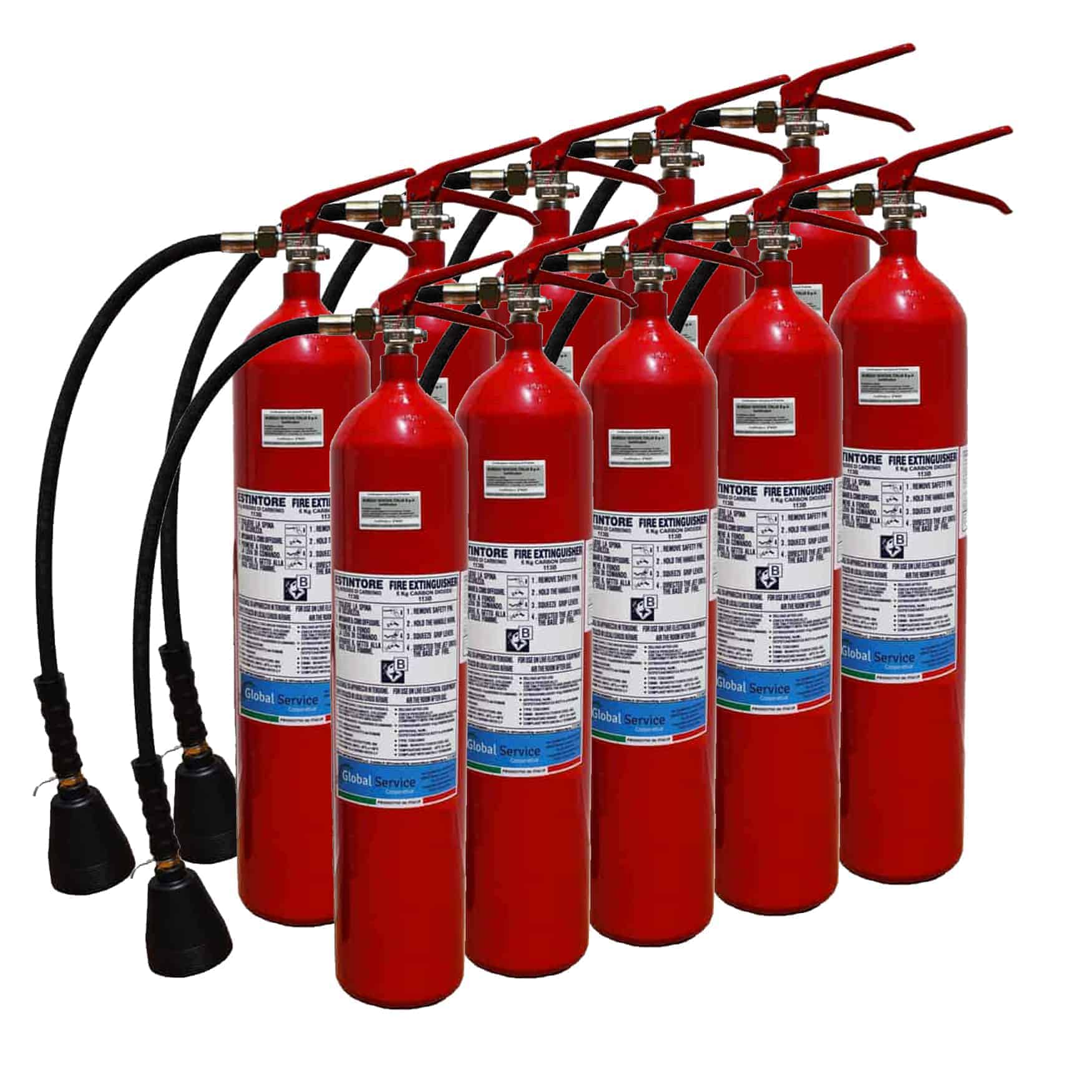 Estintore CO2 5 Kg x 10 - Antincendio - Cooperativa Global Service