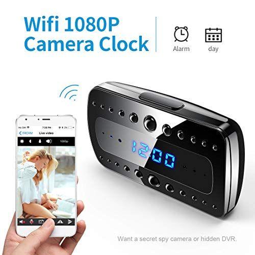 FREDI 1080P WIFI telecamera Spia Orologio-sveglia HD videocamera