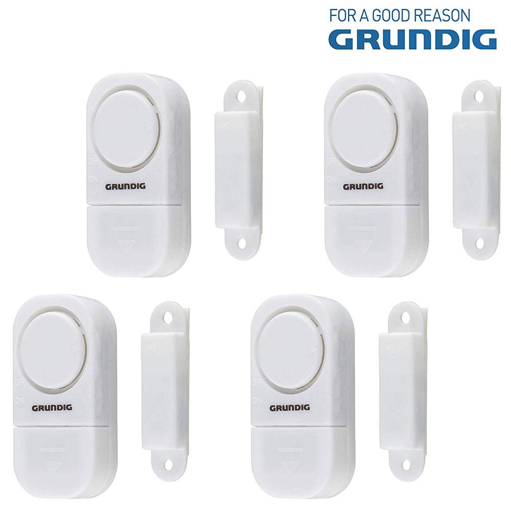 Grundig Set 4 pezzi Sistema allarme per Porte e Finestre con