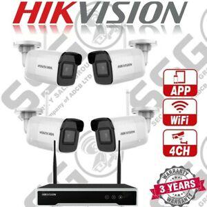 Hikvision Bullet Telecamera WiFi e a NVR Kit, 4 x DS-2CD2041G1