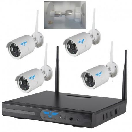 Kit 4 telecamere videosorveglianza senza fili