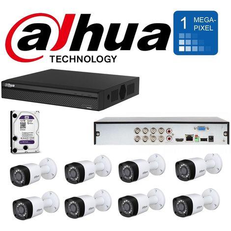 Kit telecamere dahua 1 dvr xvr5108hs + 1 wd10purz + 8 hac