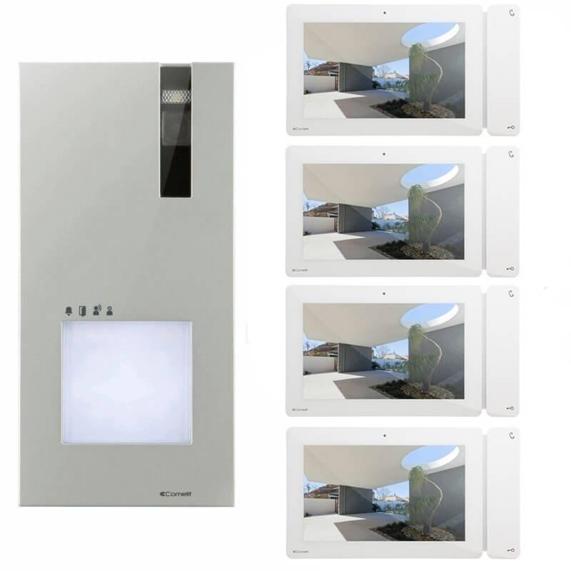 Kit Videocitofono Quadrifamiliare Comelit Quadra Monitor 7
