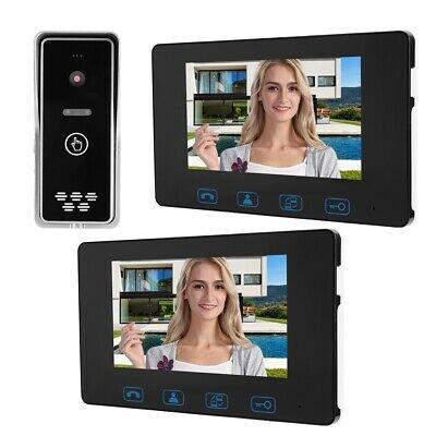 """KIT VIDEOCITOFONO WIRELESS BIFAMILIARE TELECAMERA 2 MONITOR 7"""" LCD"""