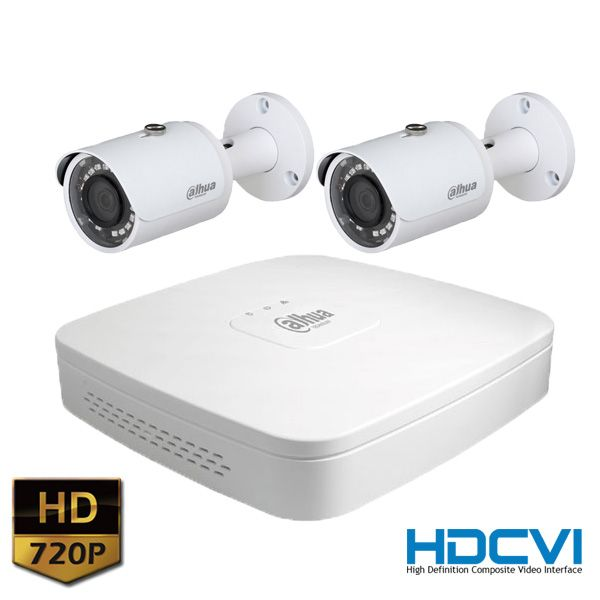 KIT Videosorveglianza Dahua HDCVI con NVR e 2 Telecamere - SICUR