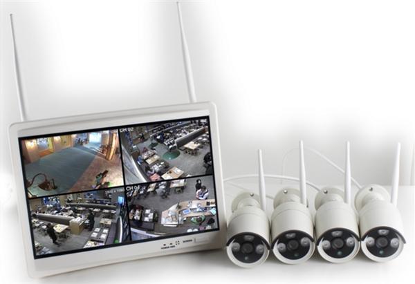 """kit videosorveglianza Economico con Monitor 12"""" e 4 telecamere HD"""