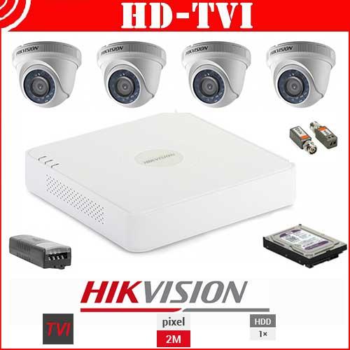 Kit Videosorveglianza Hikvision 01 4ch HD-Tvi 1080p - telecamere Dome