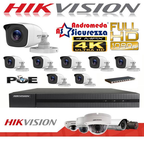 KIT VIDEOSORVEGLIANZA IP HIKVISION HIWATCH 16 CH FULL HD 8