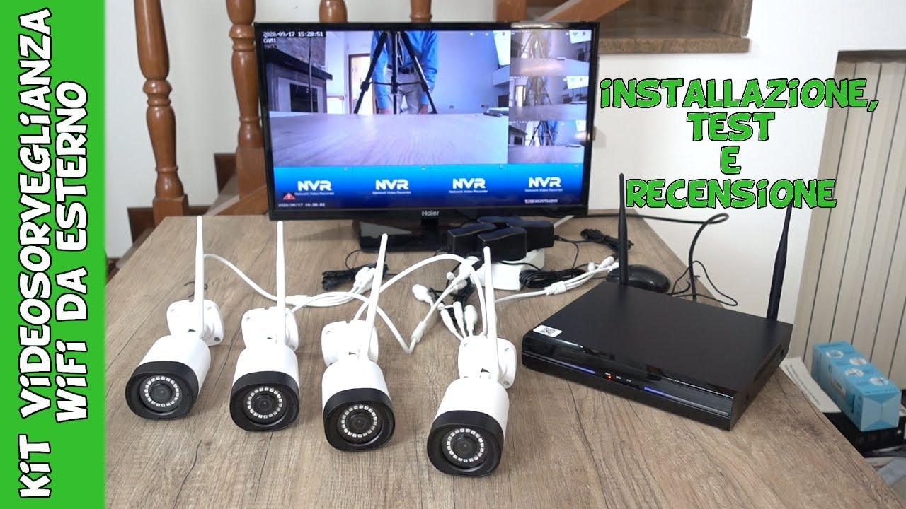 kit videosorveglianza professionale economico con telecamere wifi