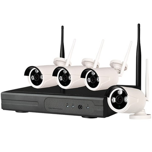 kit videosorveglianza wireless IP 4 canali. DVR HD 1TB con 4