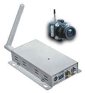 Microtelecamera wireless senza fili infrarossi + ricevitore, kit