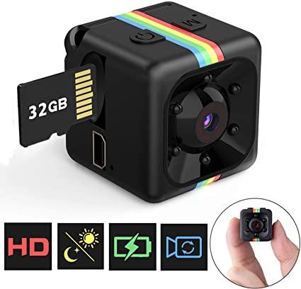 Mini Telecamera Spia Nascosta con Micro sd 32gb, FLYLINKTECH Full