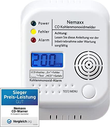 Nemaxx rilevatore CO rilevatore di monossido di carbonio