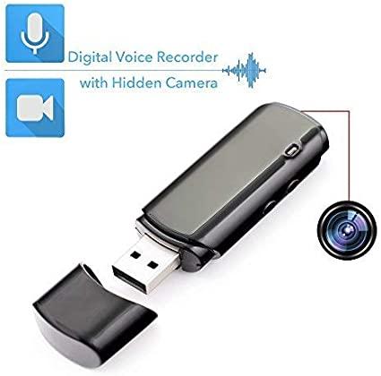 Registratore Vocale e Camera Nascosta Chiavetta USB| Batteria con