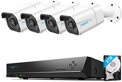 Reolink Kit Videosorveglianza Esterno PoE 4K Ultra HD, Telecamere