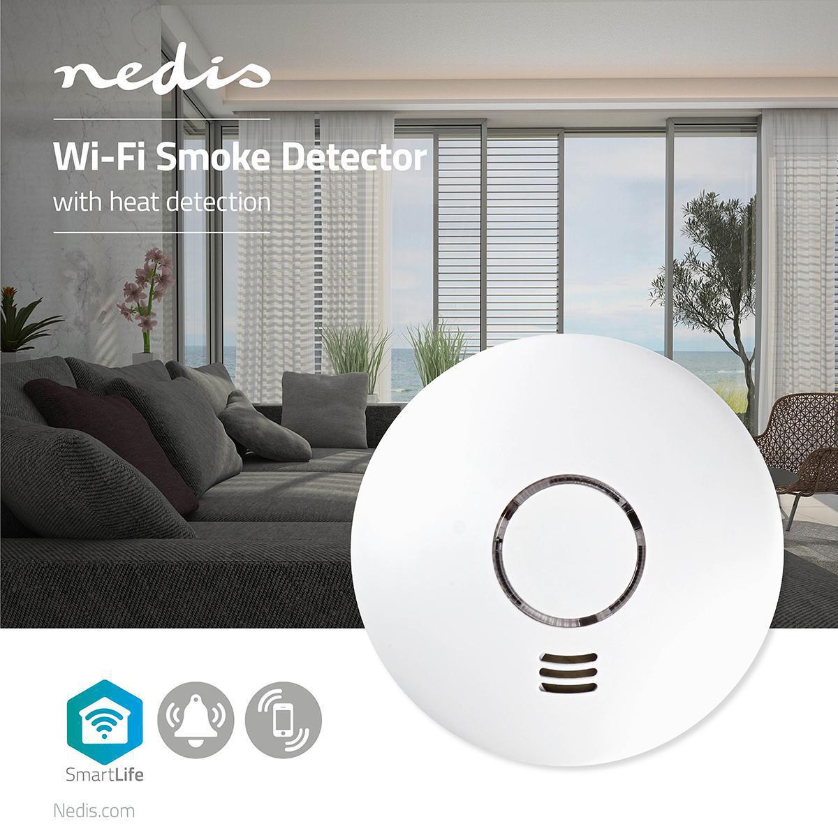 Rilevatore di Fumo Smart | Wi-Fi | Nedis