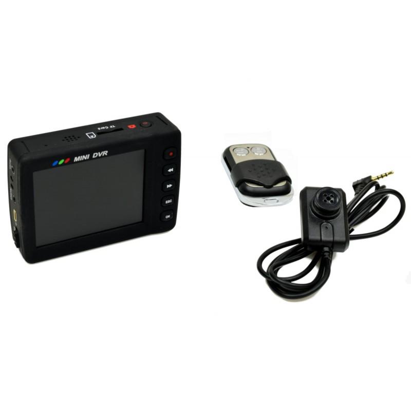 Scheda SD mini registratore portatile con monitor LCD + pulsante