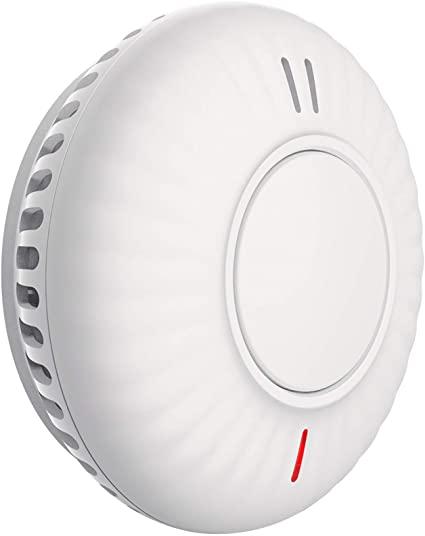 Semoss Rilevatore di Fumo a Batteria 10 Anni per Casa,Wireless