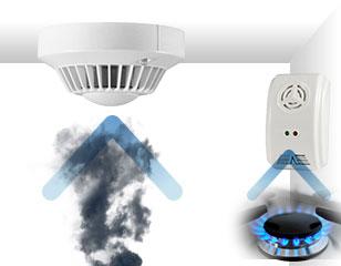 Sensori gas fumo allagamento