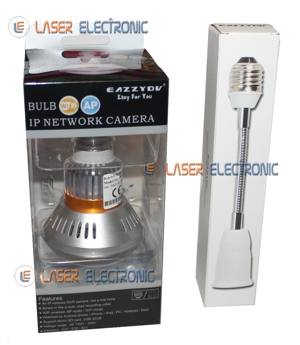 Telecamera IP WiFi Nascosta in Lampadina E27 Visione Notturna