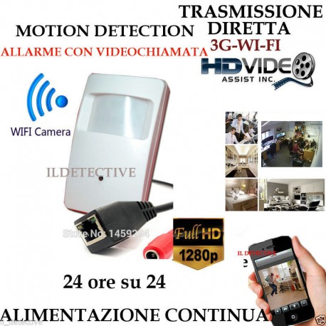 Telecamera Spia WIFI HD SENSORE ip ALLARME TELECAMERA MICRO