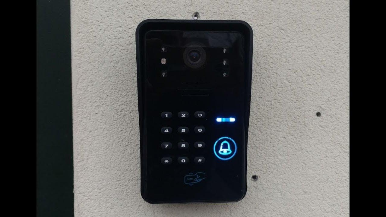 Videocitofono wireless con apriporta da smartphone ovunque - YouTube