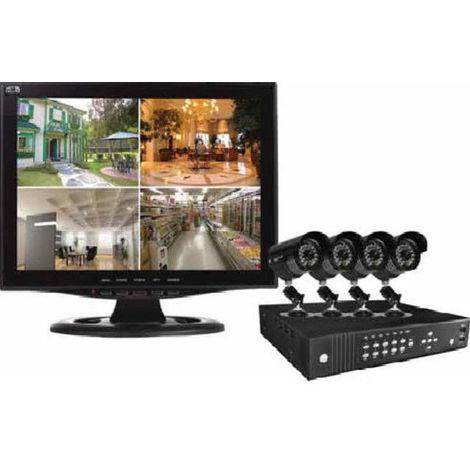 Videosorveglianza,Videocontrollo, Kit di videosorveglianza monitor